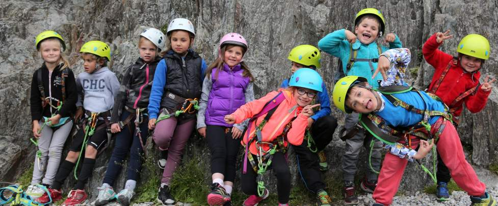 Introduction to rock climbing 'Spider Kids'
