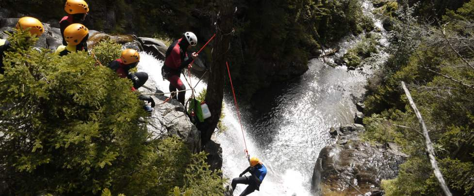 canyon, Compagnie des guides, guides, chamonix, mont blanc, barberine, cascade
