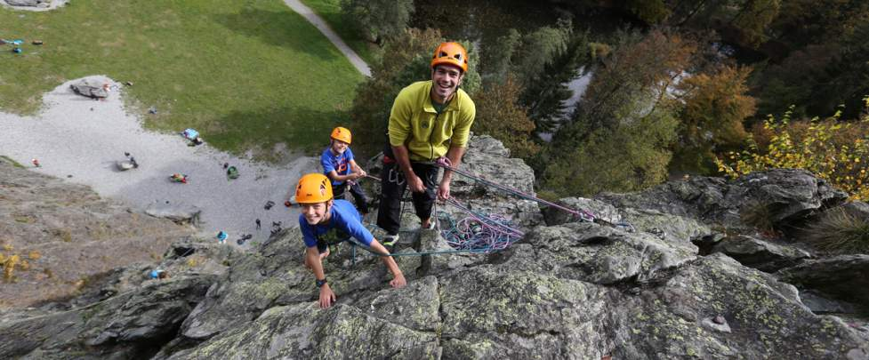 INTRODUCTION TO ROCK CLIMBING  IN LES GAILLANDS